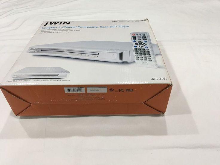 DVD Player. compact 2-Channel Progressive scan DVD Player J Win Model JD-VD141 #JwinJDVD141