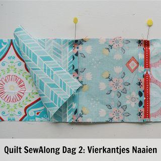 By MiekK: Easy Quilt SewAlong Dag 2: Vierkantjes Naaien