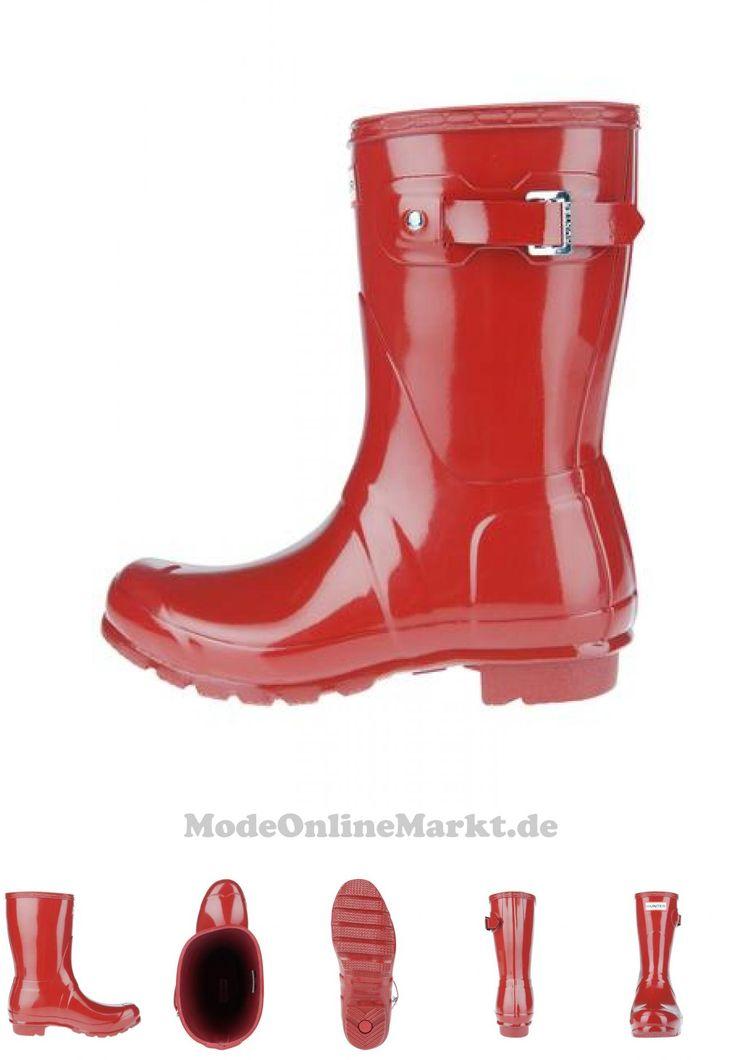 05013441405094 | #HUNTER #Damen #Stiefel #Wmn #Org #Short #Gloss #WFS1000RGL #rot