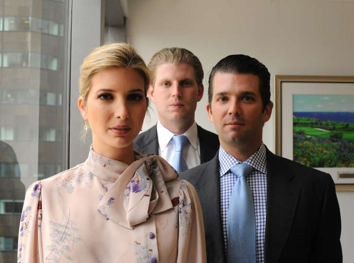 From left, siblings Ivanka, Eric and Donald Trump, Jr., together in Trump Tower in New York in June 2012.