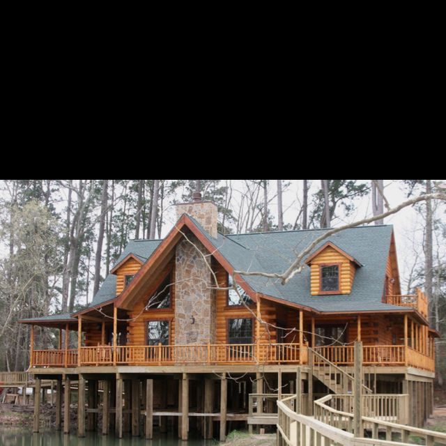 1000 images about stilt houses on pinterest north Log cabin homes on stilts