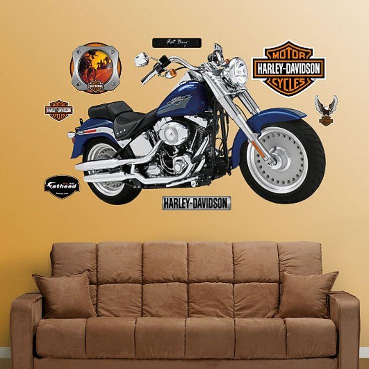 Fathead Harley Davidson Fat Boy Wall Graphic   16 00003 Part 71