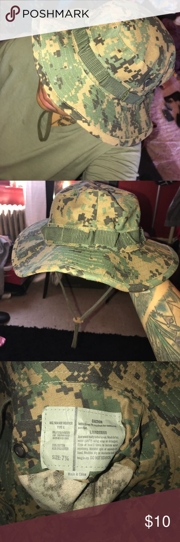 Digital Camo Fishing Hat This was found at a vintage shop for about 15$. It has never been worn and is perfect for the summer  Accessories Hats