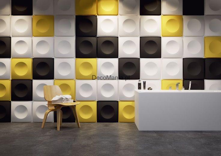 Panele ścienne 3D - Dunes - Model 13 - Squares | DecoMania.pl