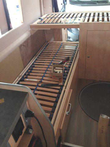 Wohnmobil Einzelbetten Längsbett Querbett