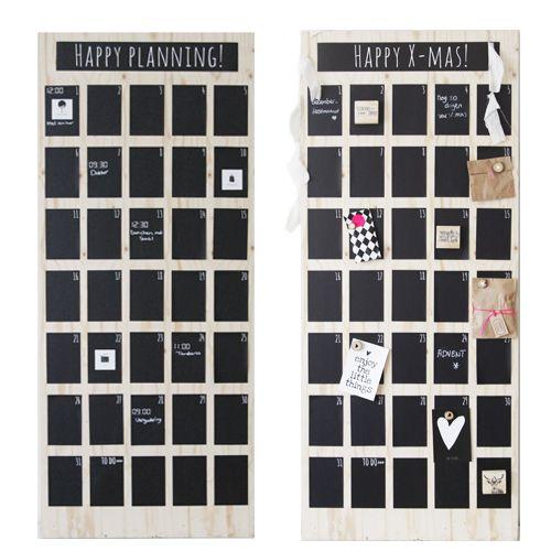 Maandkalender De hele maand in beeld op je muur! Hoe heerlijk is dat om geen afspraken en to do's te vergeten. En niet onbelangrijk: ook nog eens stijlvol en decoratief!