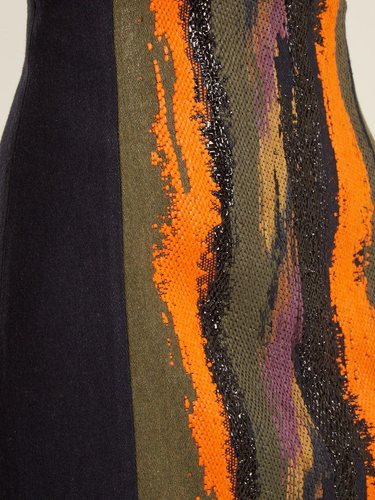 Aquarella wave-embroidered twill maxi skirt | Carl Kapp | MATCHESFASHION.COM US