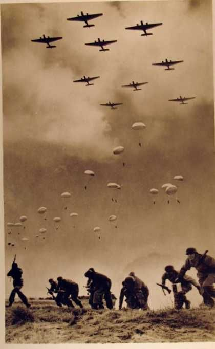 20 May 1941 German Paratroopers in Crete.