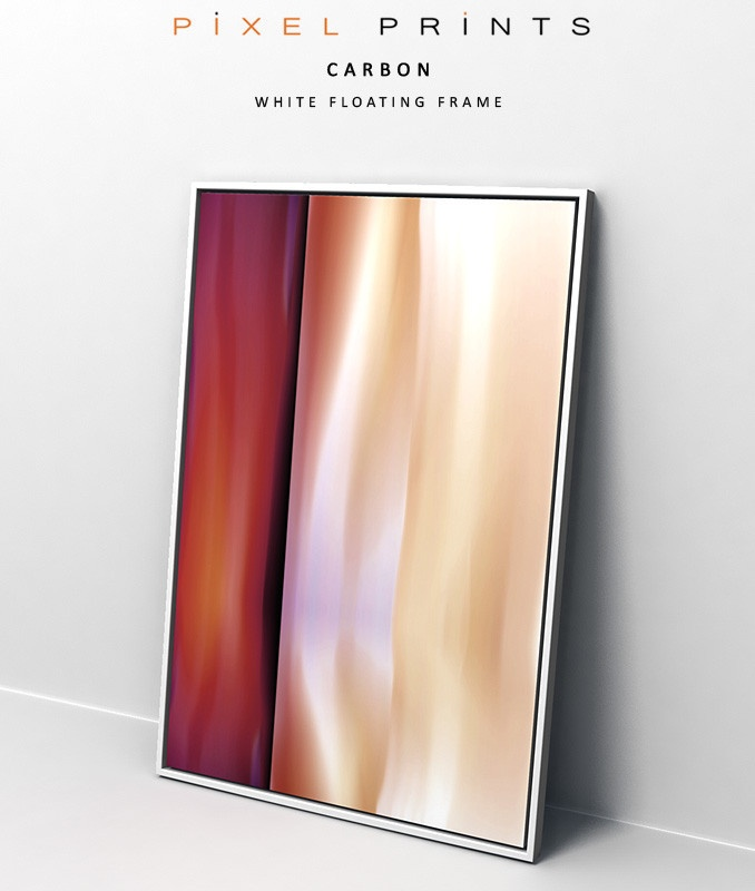 carbon pixel prints modern digital canvas art print with white floating frame