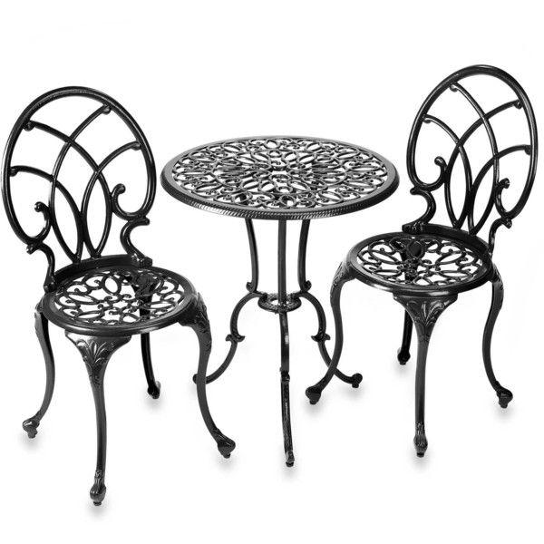 Outdoor Cast Iron Aluminium Bistro Table Chair Setting Best