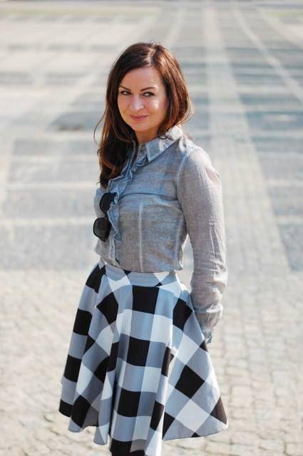www.dashkafashion.pl wearing Mohito skirt