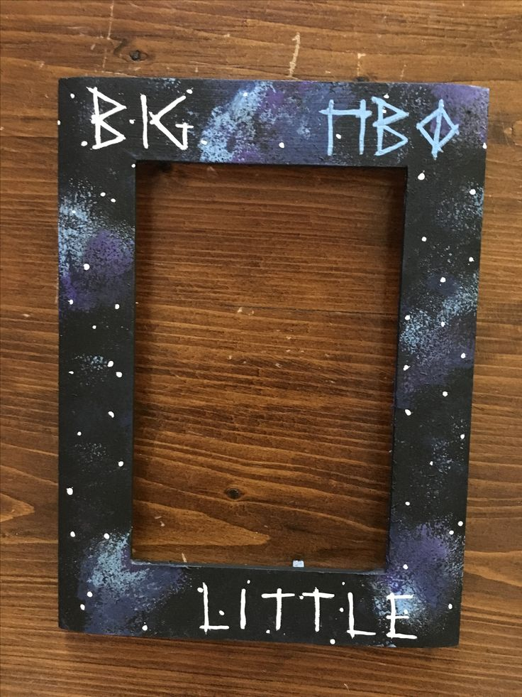 Pi Beta Phi sorority galaxy big little picture frame