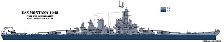USS Montana-class. Proposed but never built