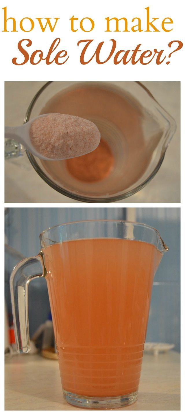 Sole water should be taken every day, is life itself! - How To Make It!