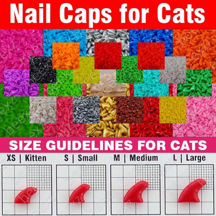 120 stücke-Weichen Nagel Caps für Katzen + 6x Adhesive Klebstoff + 6x Applikator/* XS, S, M, L, pfote, klaue, abdeckung, lot, katze */
