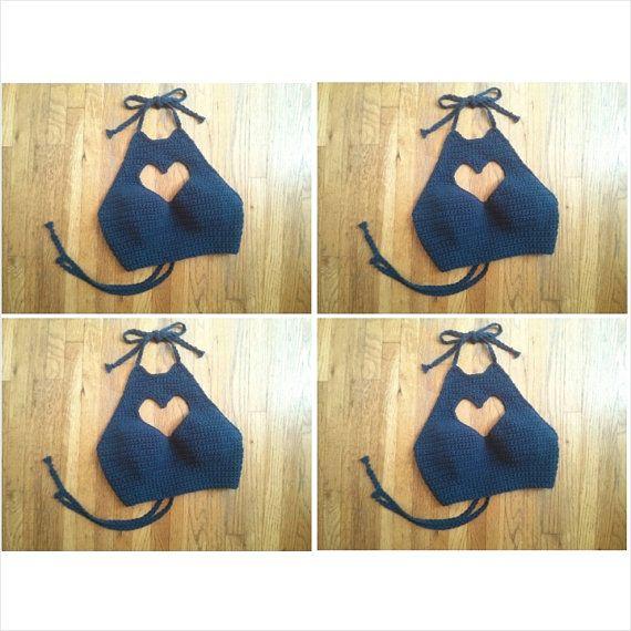 Www Hear Cut Com : Hear Cut Out Halter Crochet Halter Top por LostCulture en Etsy
