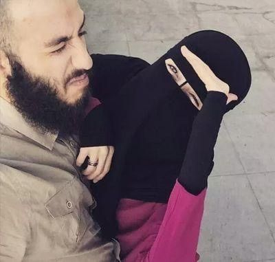 Happy Muslim Couple                                                       …