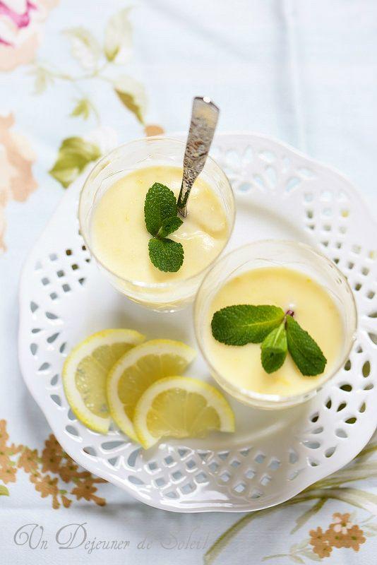 Crème au citron express ou lemon posset