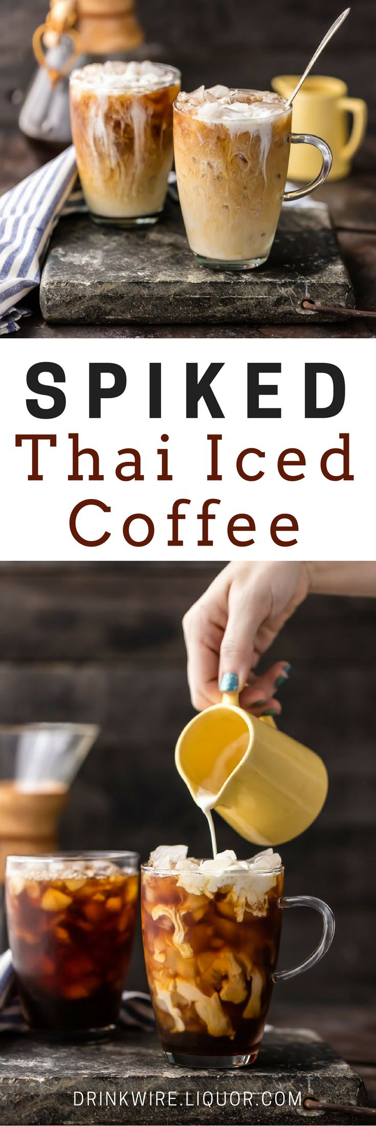 Is there anything more refreshing than in iced coffee? Add some spice and Amaretto and you've got something out of this world! Non-alcoholic version also available for those who want to abstain. This is the perfect pick me up.
