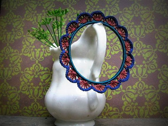 Crocheted bracelet in vivid colours by Limetka123 on Etsy