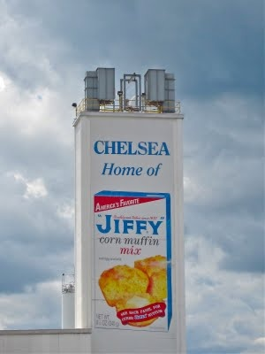 Chelsea, Michigan...home of Jiffy mixes and actor Jeff Daniels.