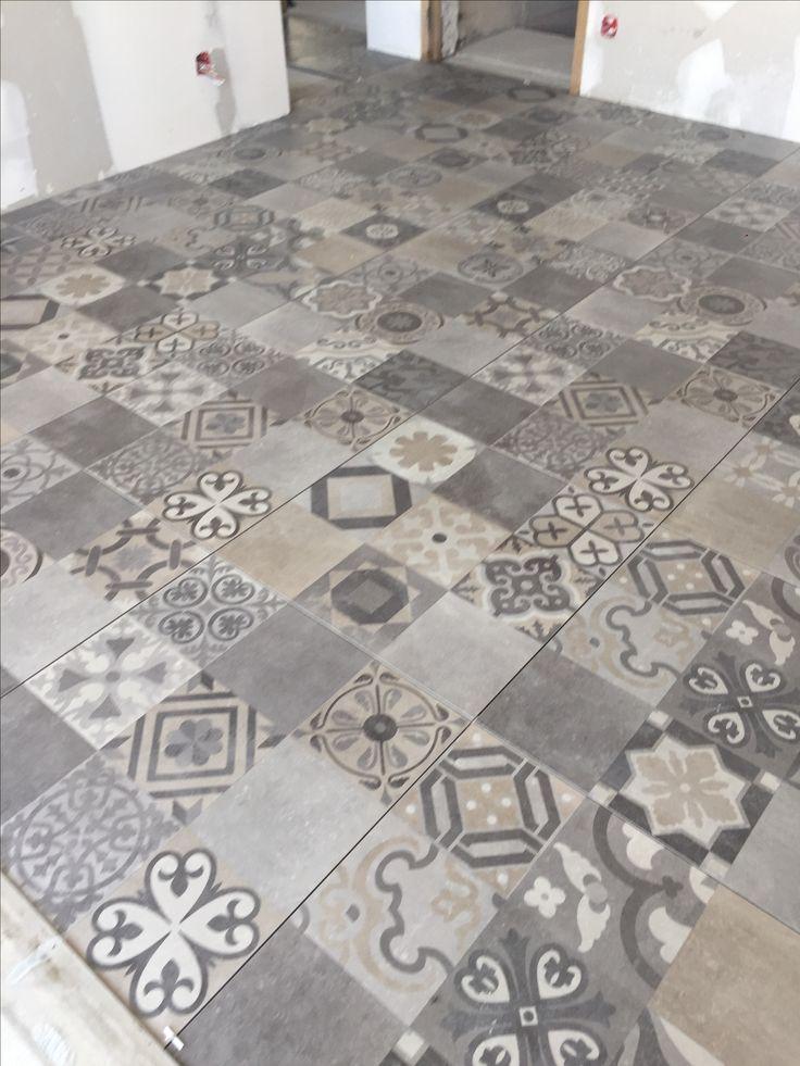 Carrelage style carreaux de ciment au sables d'olonne avec porcelanosa