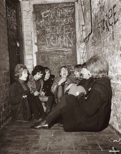 Girls waiting for The Beatles's lunchtime session, the Cavern Club, c.1960s