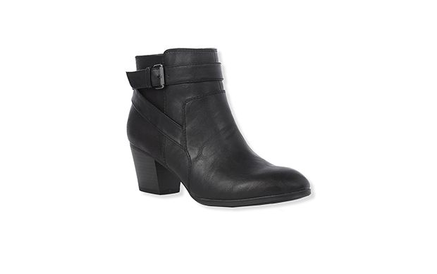 """Black Strap Ankle Boot. """"Choose effortless style, these black ankle boots are the perfect wear-with-anything option."""""""