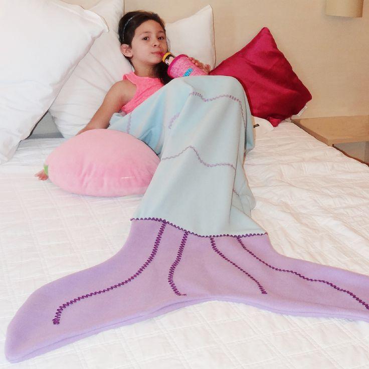 Cobertor Cauda de Sereia  www.dadora.com.br