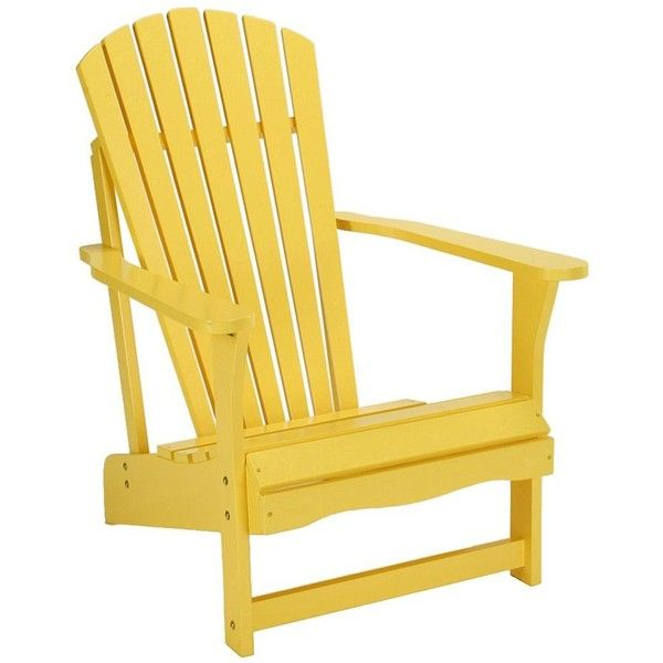 Adirondack Patio Chair (Yellow) found on Polyvore