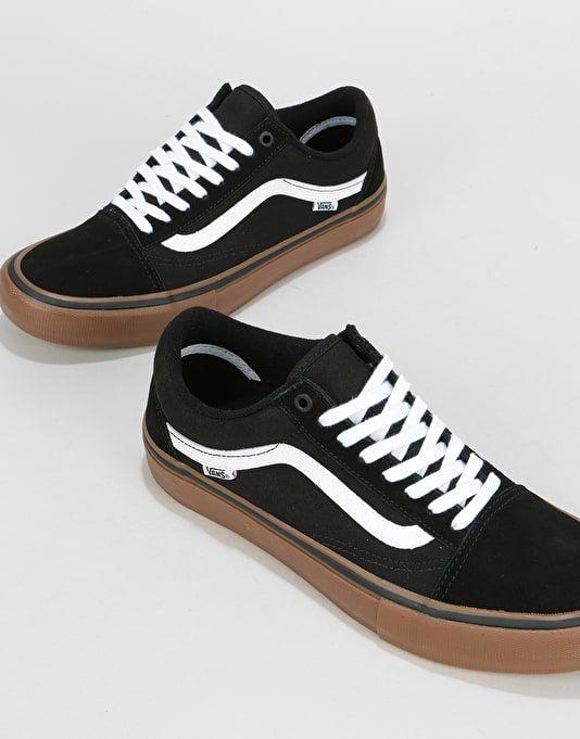 2d68cc04926b Vans Old Skool Pro Skate Shoes - Black/White/Medium Gum   Footwear ...