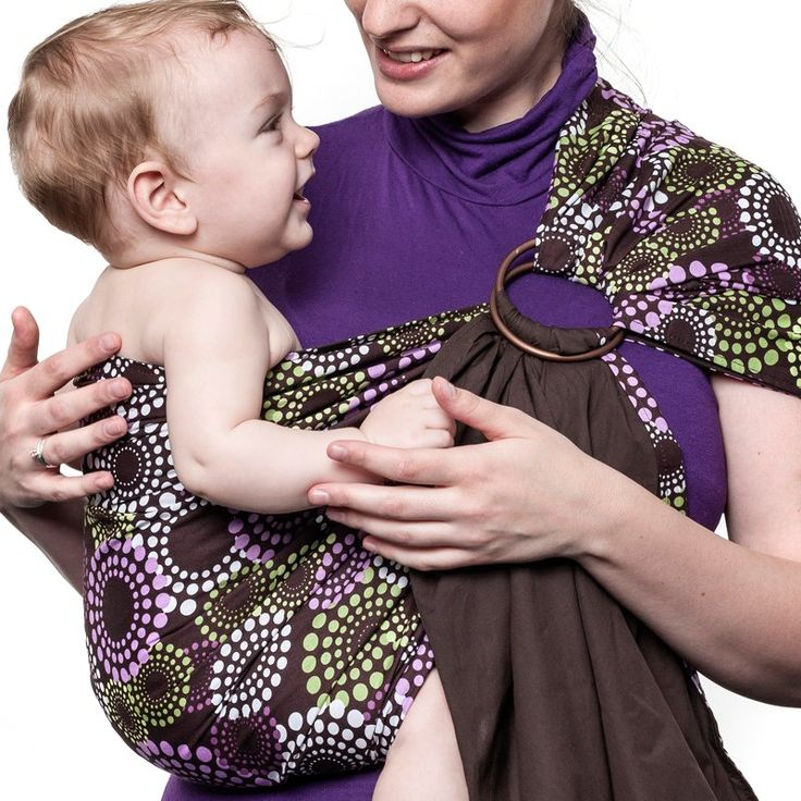 Liliputi® Ring Sling - Rainbow Line - Lavendering #babywearing #ringsling