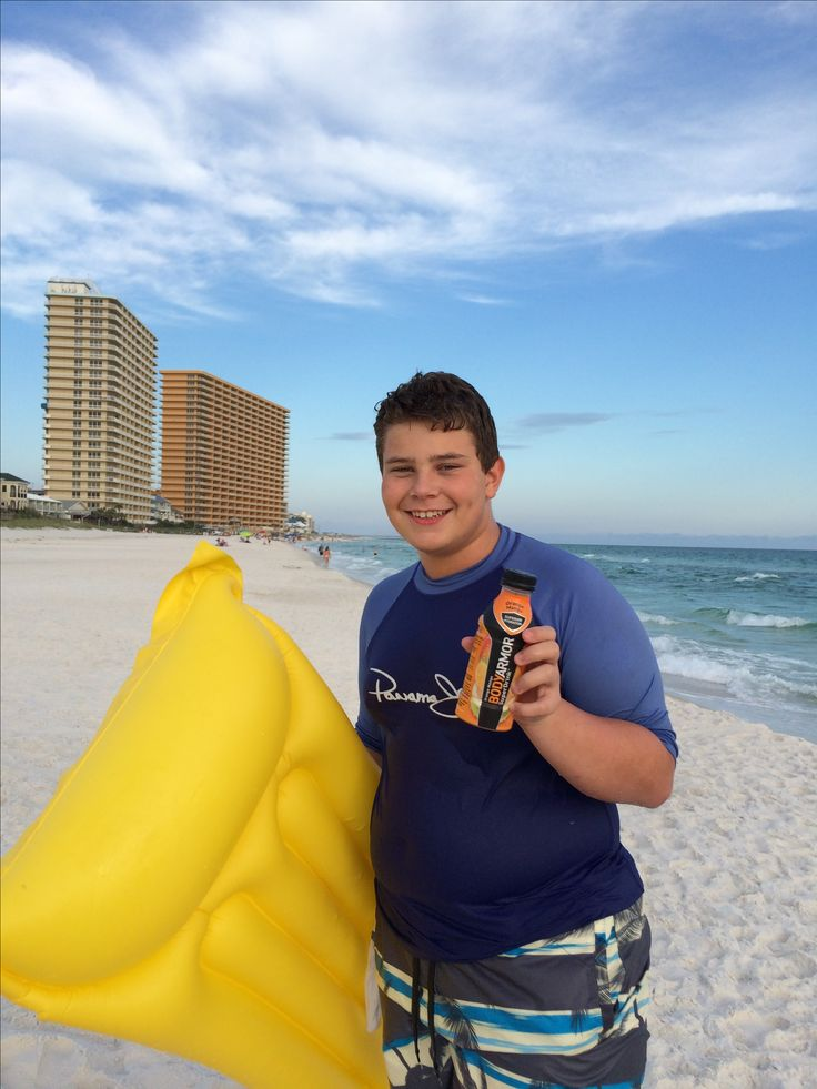On the beach with #BODYARMOR Hydrate and tastes great!