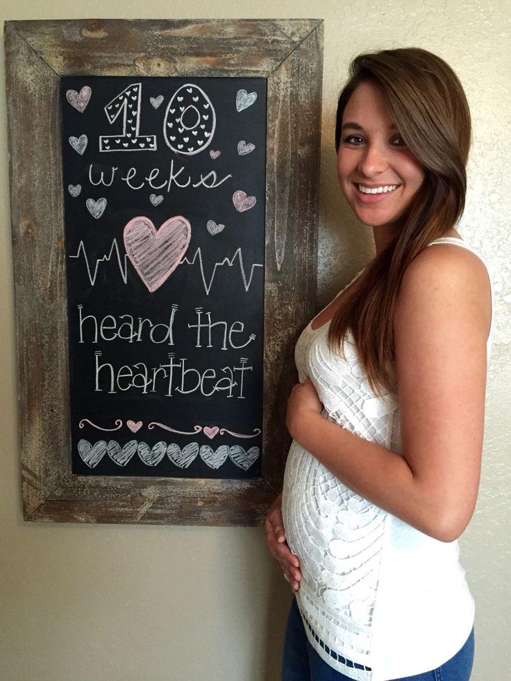Little Baby Russell #littlebabyr #10weeks #pregnancy #chalkboard #heartbeat