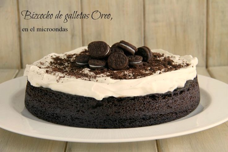 Bizcocho de galletas Oreo, en el microondas - MisThermorecetas