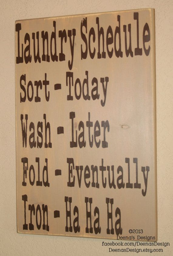 Laundry Schedule Laundry Room Decor Laundry Sign by DeenasDesign, $44.00