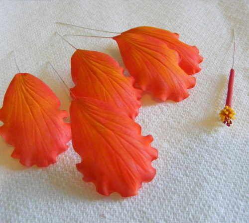 awesome gumpaste hibiscus tutorial