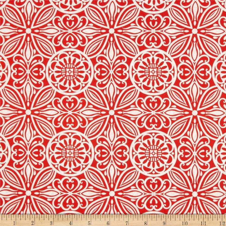 Modern Mixers Large Medallion Allover Orange from @fabricdotcom  Designed for StudioE Fabrics, this cotton print fabric is perfect for quilting, apparel and home decor accents.