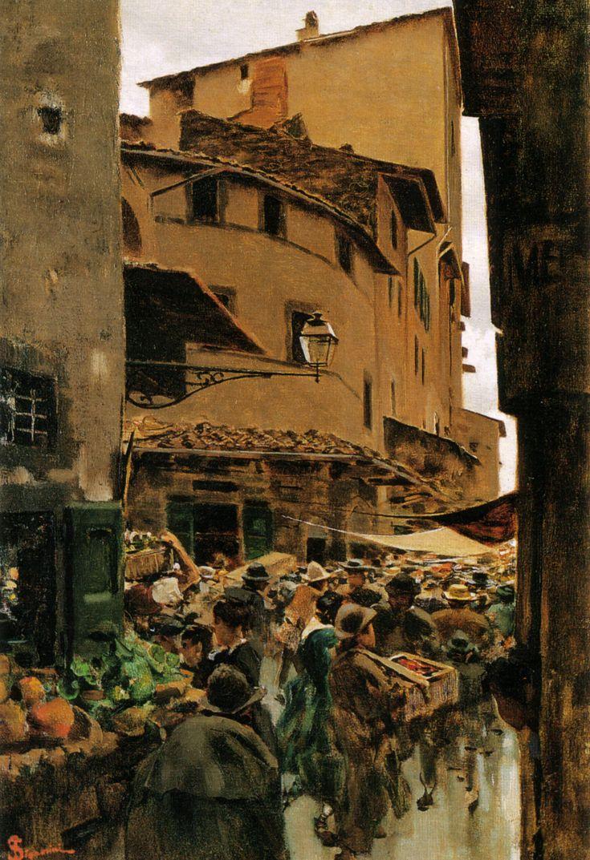 "Telemanco Signorini ~""Via Ca limala"", 1889"