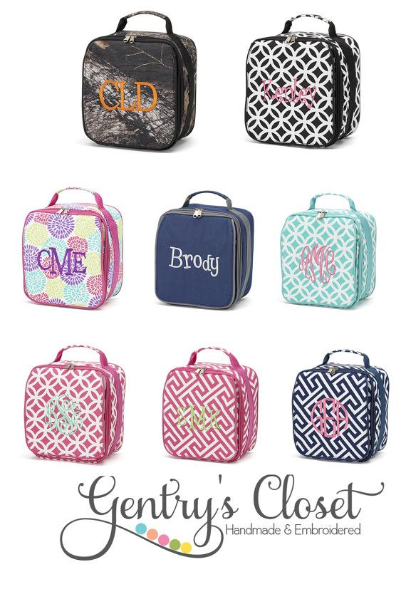 Personalized Lunch Bag For By Gentryscloset 20 00 Learning Teaching Pinterest Bags Box And Monogram