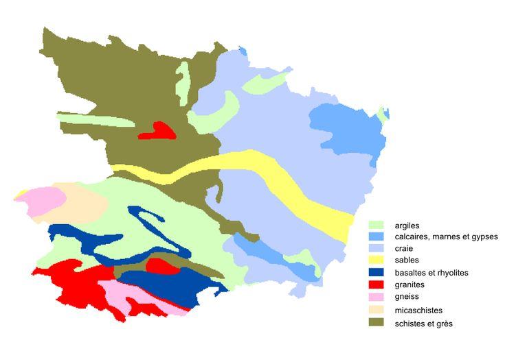 Carte lithologique du Maine-et-Loire