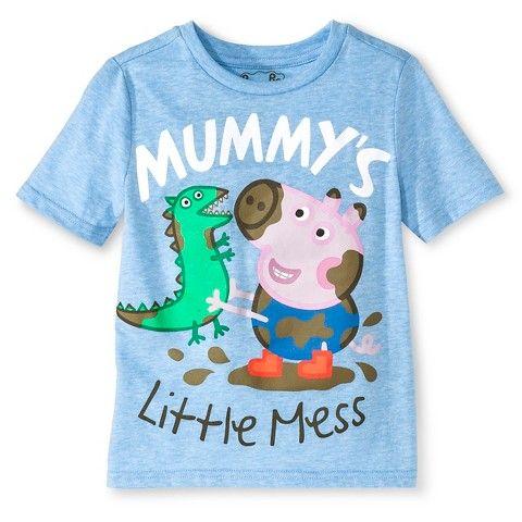 Toddler Boys' Peppa Pig George Pig T-Shirt - Blue Heather $7.99
