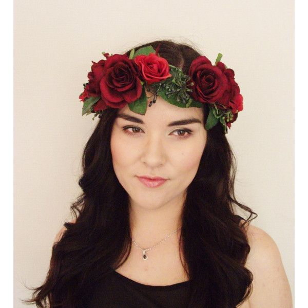 Floral Headband, Flower Crown, Floral Wreath, Wreath, Wedding,... ($32) ❤ liked on Polyvore featuring accessories, hair accessories, floral headbands, flower garland headband, head wrap hair accessories, white headband and white flower crown