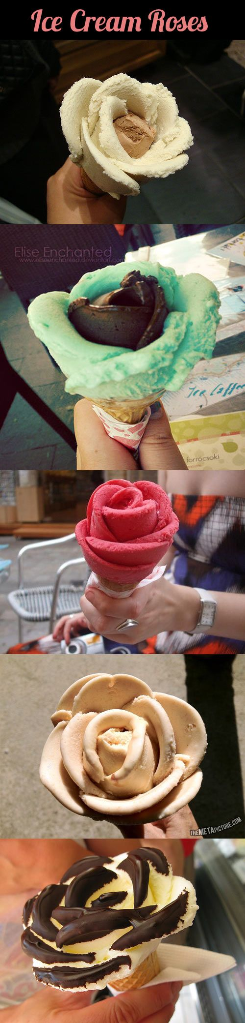 Flowers made out of ice cream...