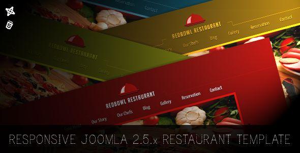 RedBowl Restaurant - Responsive Joomla Template - Food Retail