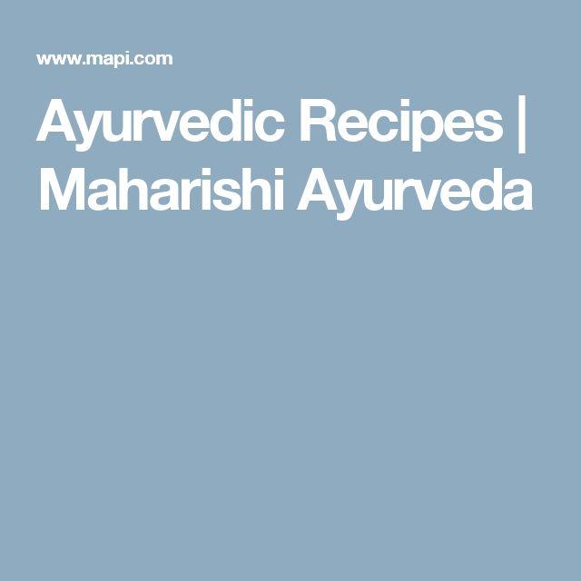 Ayurvedic Recipes   Maharishi Ayurveda
