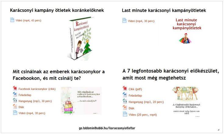 A kézművesnek a karácsony most kezdődik (én szóltam). :) http://go.tobbminthobbi.hu/karacsonyiotletek