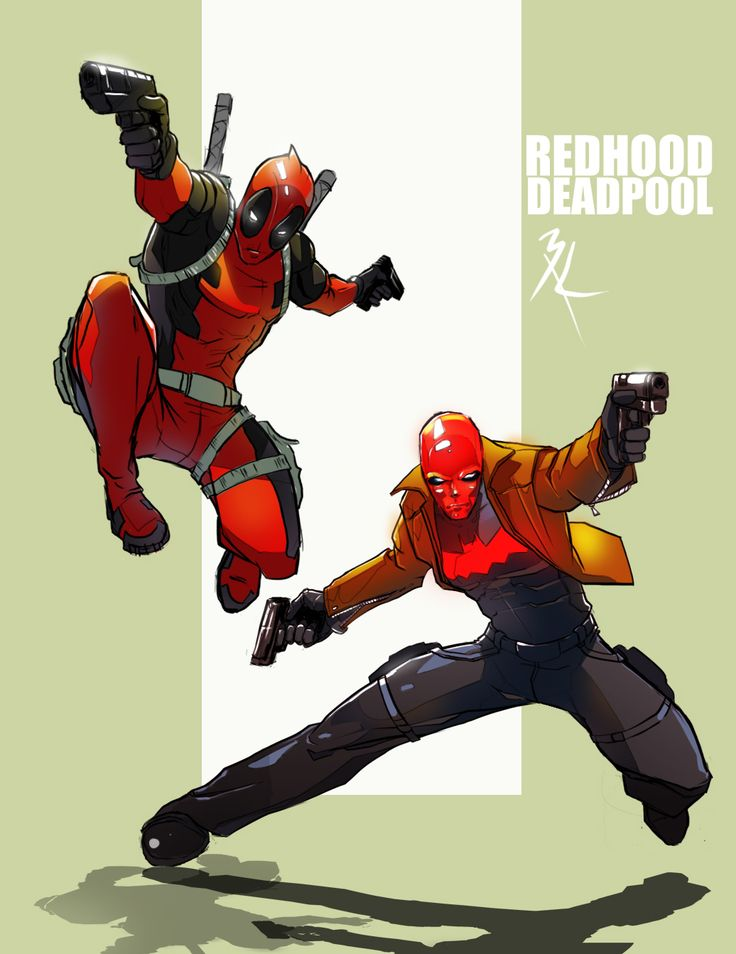 Redhood and Deadpool by Code1310.deviantart.com on @deviantART