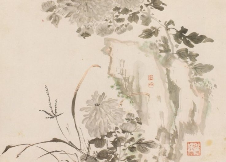 (Korea) 오상고절 by Hyeonjae Shim Sa-jeong (1707-1769). ca 18th century CE. color on paper.