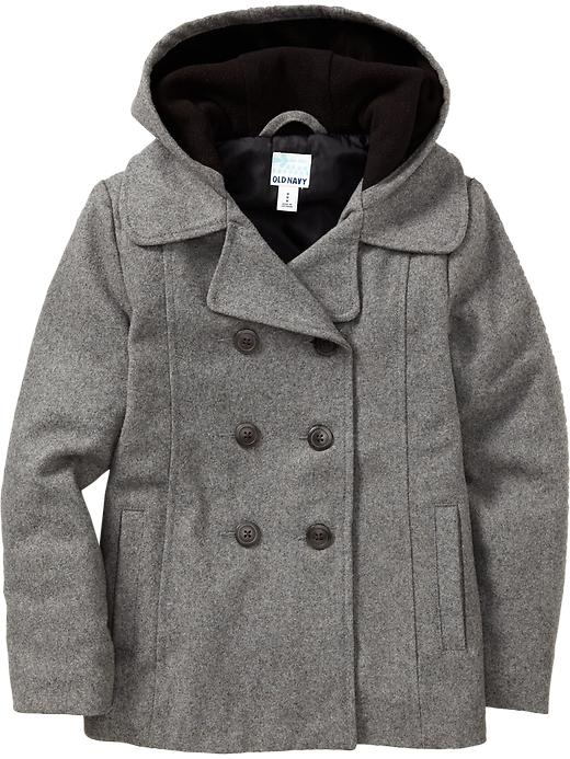 Old Navy | Girls Hooded Wool-Blend Peacoats